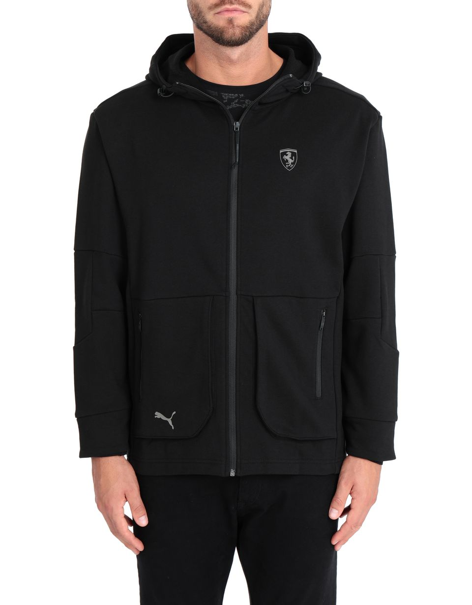 Scuderia Ferrari Online Store - Puma SF hooded sweatshirt for men - Zip Hood Jumpers