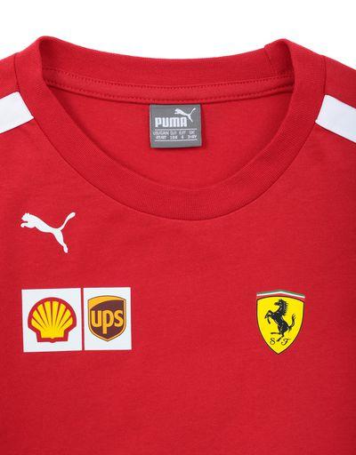 Scuderia Ferrari Online Store - Camiseta Scuderia Ferrari Replica 2018 para niño - Short Sleeve T-Shirts