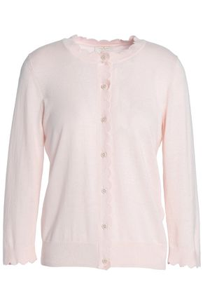 KATE SPADE New York Rambling Roses silk, cotton and cashmere-blend cardigan