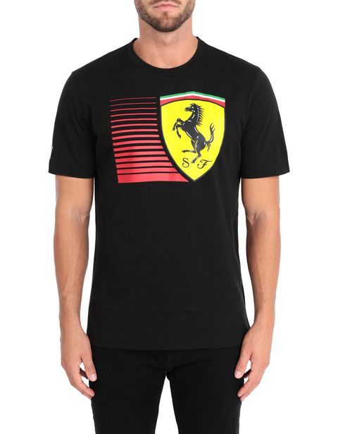 Men's short-sleeve Puma T-shirt with yellow Shield