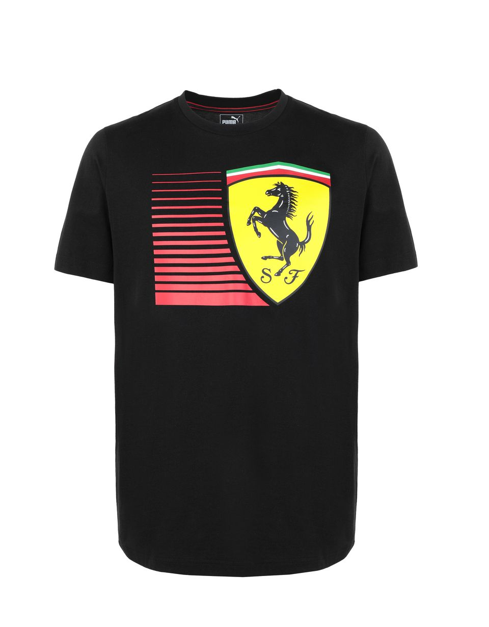 54cf48b2fc4 Ferrari Men's short-sleeve Puma T-shirt with yellow Shield Man ...