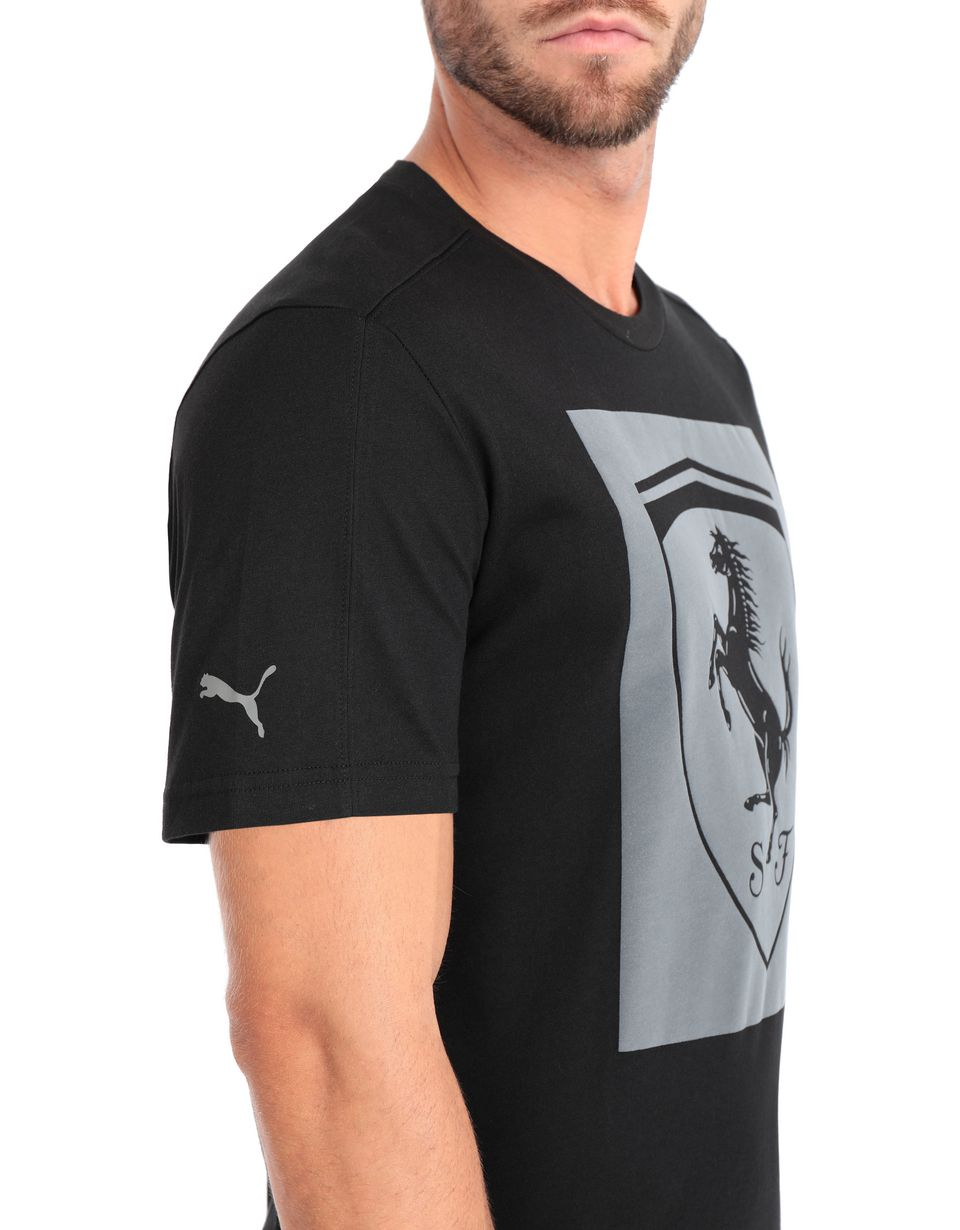 Scuderia Ferrari Online Store - Men's short-sleeve Puma T-shirt with Shield -