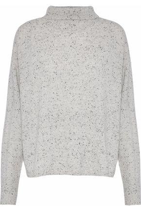 MONROW Marled cashmere turtleneck sweater