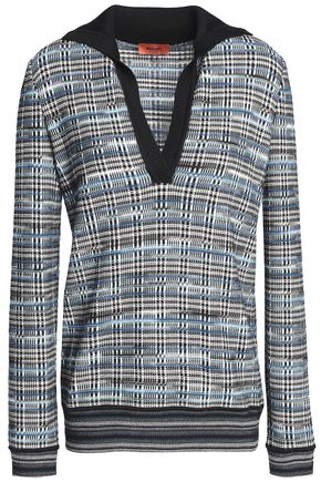 MISSONI Checked jacquard-knit wool-blend sweater