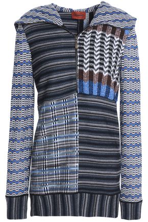 MISSONI Paneled wool-blend hoodie
