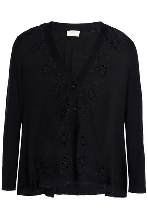 KATE SPADE New York Spice Things Up silk, cotton and cashmere-blend cardigan