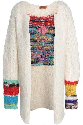MISSONI Paneled bouclé-knit cardigan