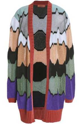 MISSONI Metallic pointelle-knit cardigan