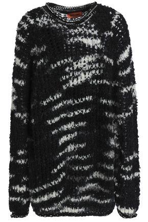 MISSONI Oversized open-knit wool-blend bouclé sweater