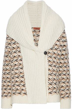 MISSONI Crochet-knit wool-blend cardigan