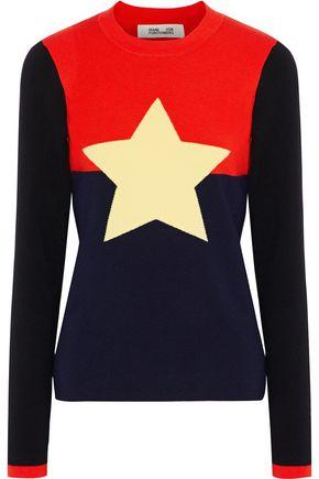 DIANE VON FURSTENBERG Intarsia wool-blend sweater