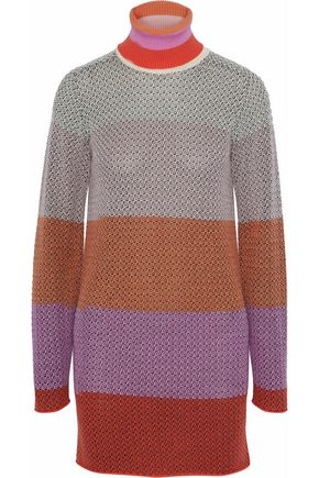 MISSONI Color-block wool-blend mini dress