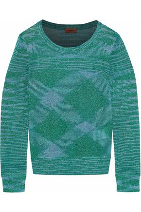 MISSONI Metallic crochet-knit sweater