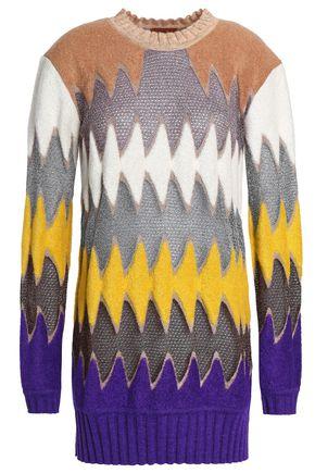 MISSONI Pointelle and bouclé-knit sweater
