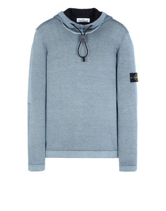 STONE ISLAND Sweater 572A8 FAST DYE + AIR BRUSH