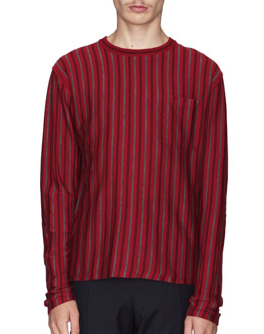 ROUND-NECK VERTICAL STRIPED SWEATER - Lanvin
