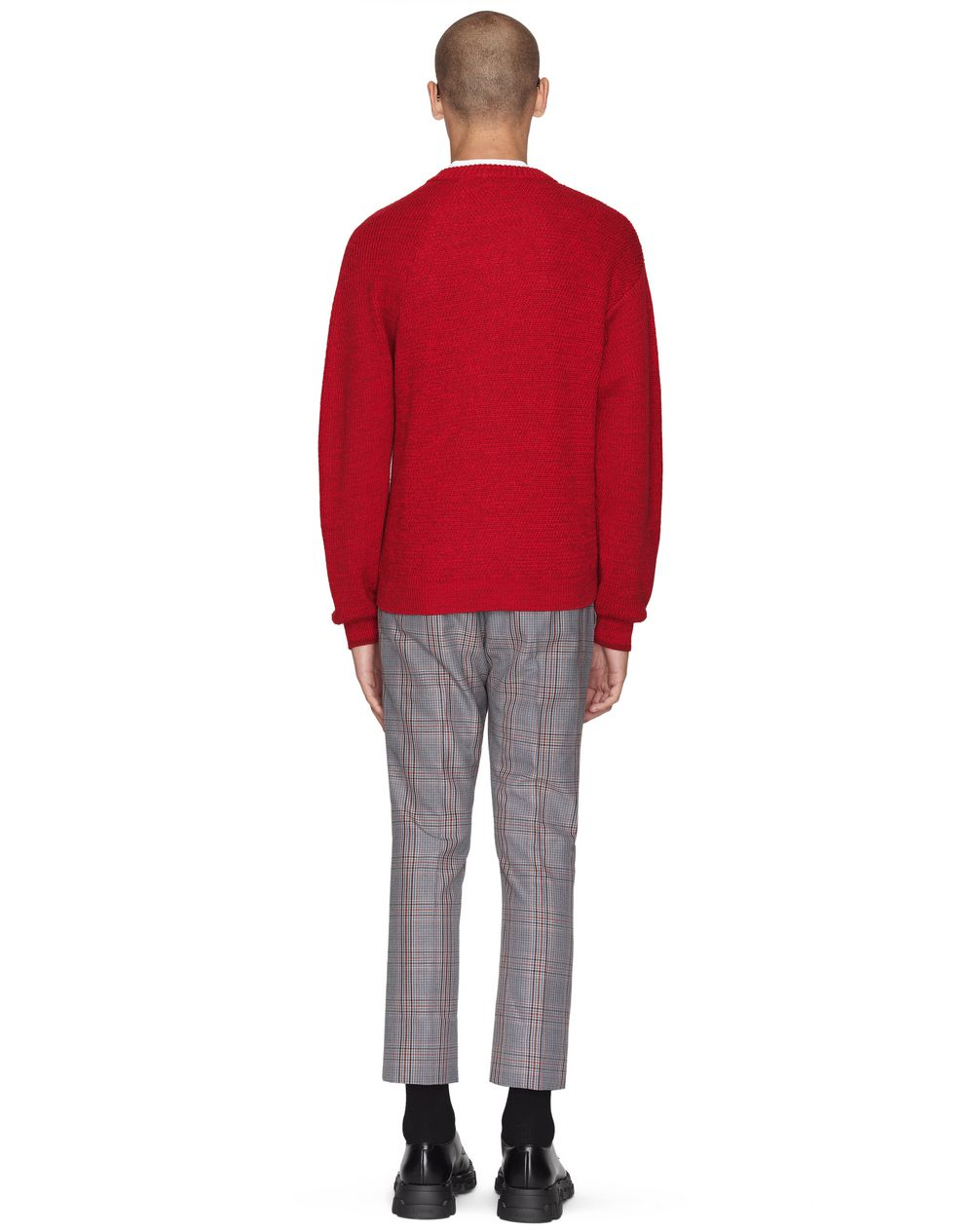 RED BUTTONED NECK SWEATER - Lanvin
