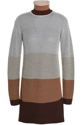 MISSONI Color-block wool-blend jacquard turtleneck sweater