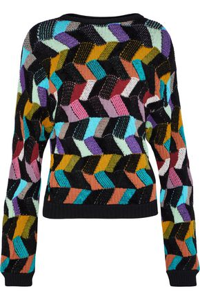 MISSONI Crochet-knit wool-blend sweater