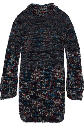MISSONI Marled crochet cashmere-blend mini dress