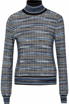 MISSONI Checked wool-blend turtleneck sweater
