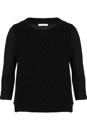 MAX MARA Cable-knit wool-blend sweater