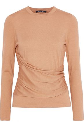 DEREK LAM Ruched cashmere and silk-blend top