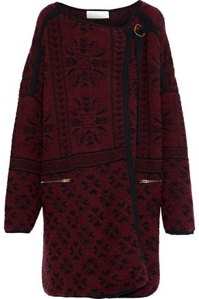 CHLOÉ Oversized wool and cashmere-blend jacquard sweater