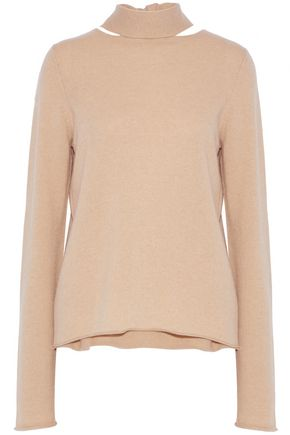 CHLOÉ Tie-back cutout cashmere sweater