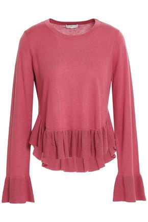 JOIE Ruffled wool and silk-blend sweater