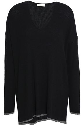 JOIE Jamarion metallic-trimmed knitted sweater
