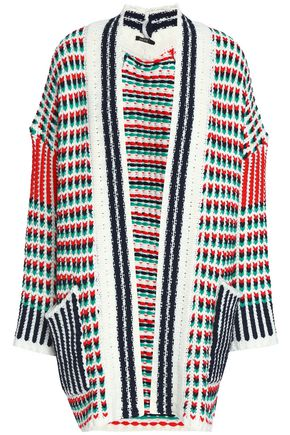 RAOUL Cotton-blend jacquard cardigan
