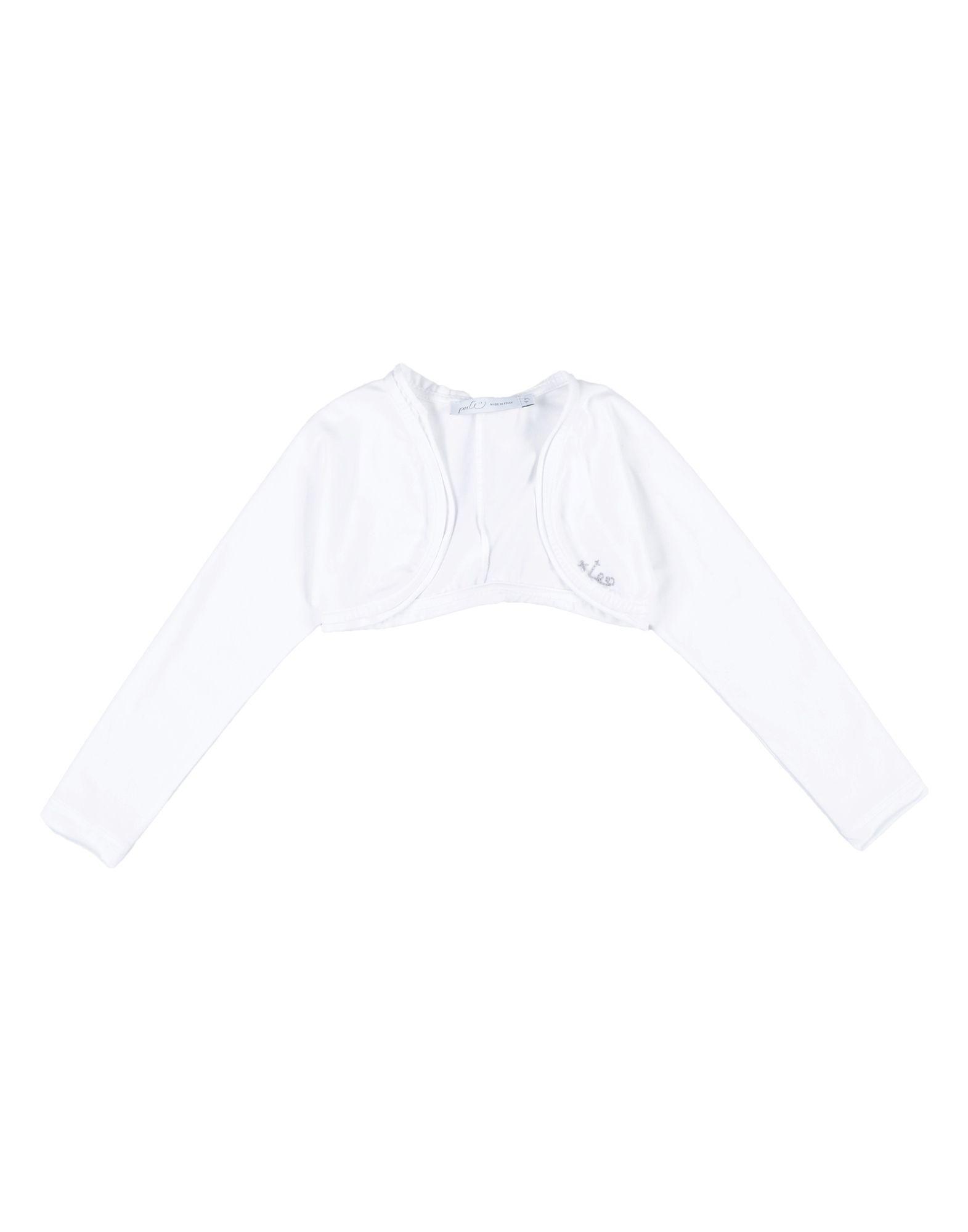 "Per Te"" Kids' Wrap Cardigans In White"