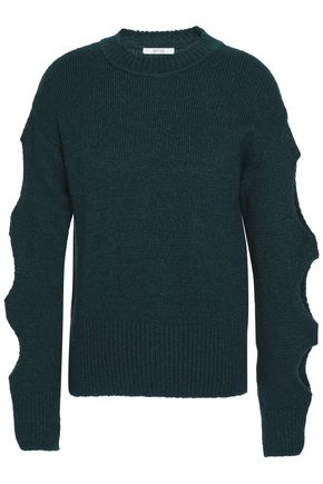 HOUSE OF DAGMAR Carole cutout knitted sweater