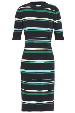 GREY JASON WU Striped stretch-knit dress