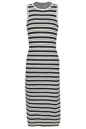 JASON WU Striped jacquard-knit midi dress