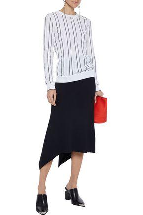 Derek Lam Sweaters DEREK LAM WOMAN STRIPED COTTON-BLEND SWEATER OFF-WHITE