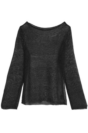 RAOUL Metallic open-knit top