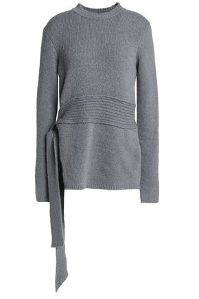 HOUSE OF DAGMAR Carlene belted knitted sweater