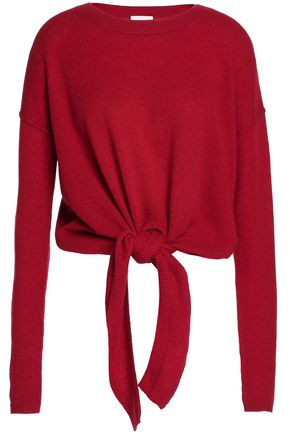 CHARLI Tie-front cashmere sweater