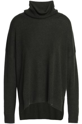 CHARLI Open knit-trimmed cashmere turtleneck sweater