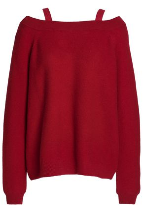 CHARLI Cold-shoulder cashmere sweater