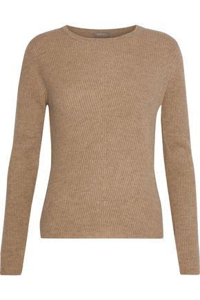 N.PEAL リブ編み カシミヤ セーター