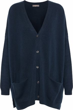 N.PEAL Oversized mélange cashmere cardigan
