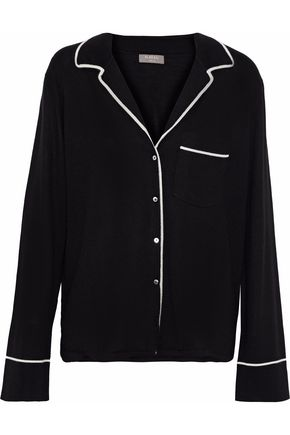 N.PEAL Cashmere and silk-blend shirt
