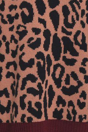 A.L.C. Leopard-print wool and cashmere-blend jacquard sweater