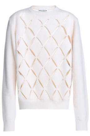 PACO RABANNE Laser-cut wool-blend sweater