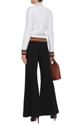 A.L.C. Alpha striped merino wool-blend sweater