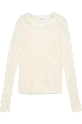 A.L.C. Burnout-effect open-knit sweater