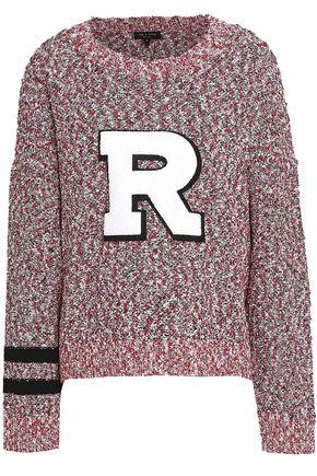 RAG & BONE Appliquéd cotton-blend blouclé sweater
